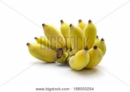 Bunch Of Tasty Banana Isolated On White Background
