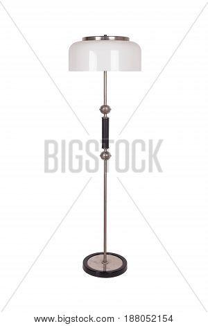 vintage retro soviet floor lamp isolated on white