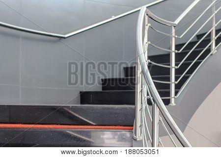 Closeup Upstair Or Down Stair, Staircase To Success