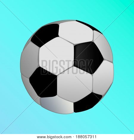 isolated soccer ball on blue background. football ball