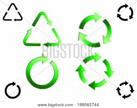 Set of recycle icons.File is in eps10 format.