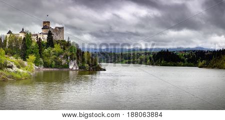 Niedzica Castle also known as Dunajec Castle is located in the southernmost part of Poland in Niedzica (Nowy Targ County in Lesser Poland). It was erected between the years 1320 and 1326 by Kokos of Brezovica on the site of an ancient stronghold surrounde