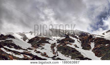 Sky and mountains landscape High Tatras mountains. Slovakia.