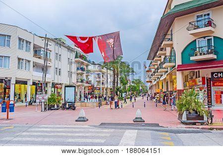 The Shopping Street Of Kemer