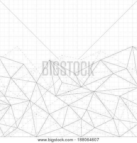Abstratnyj background with a pattern of lines and dots. Striped sheet of paper. Books and school supplies. Technological style.