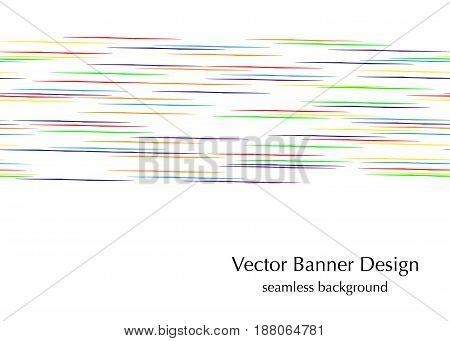 horizontal rainbow lines  seamless vector banner design