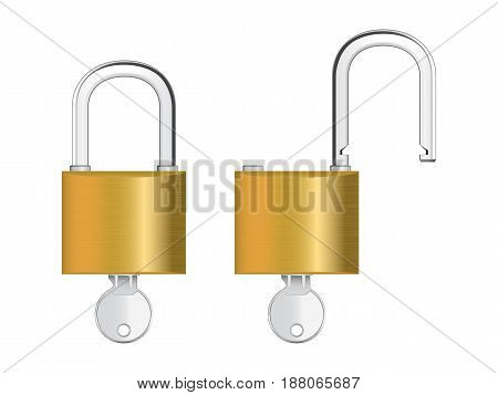 Vector illustration of padlock. This is eps10 file.