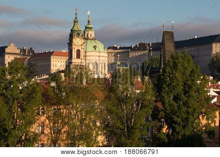 Mala Strana And St. Nicholas Church In Prague