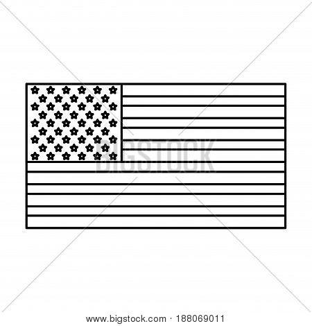 usa flag. united states america flag insignia national outline vector illustration