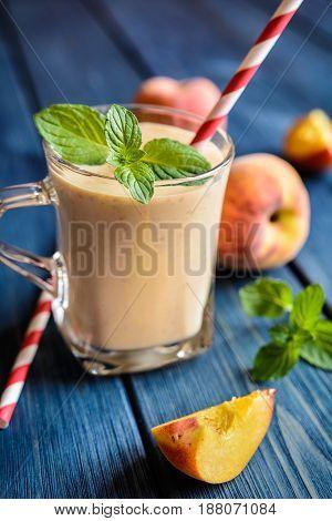 Delicious Peach Milkshake