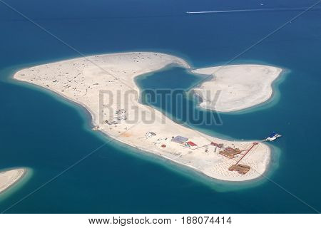 Dubai The World Clarence Island Aerial View Photography