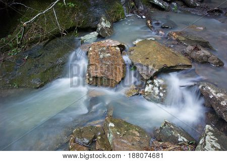 Arkansas Stream With Rocks and flowing water