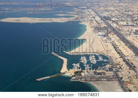 Dubai Jumeirah Jumeira Beach Island Aerial View Photography