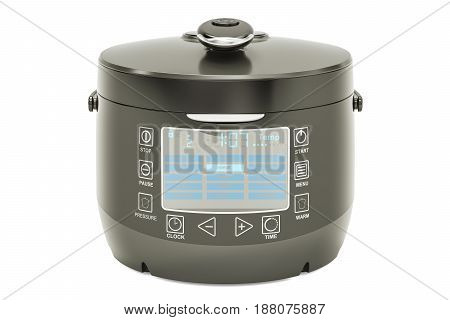 Automatic Multicooker 3D rendering isolated on white background