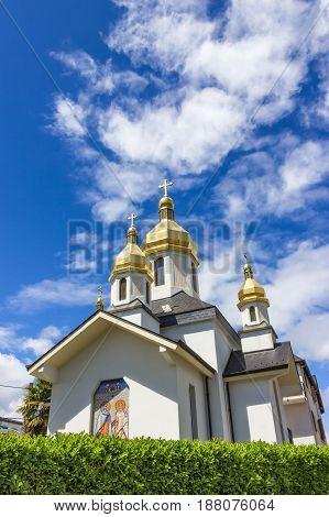 Ukrainian Church of the Virgin Dormition. France, Hautes Pyrenees, Lourdes