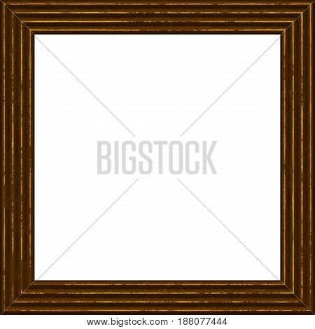 Frame Wooden 3D Grunge Isolated On White