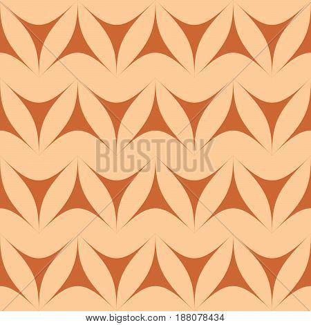 Brown geometric triangulars background. Curvilinear triangles. A symmetrical pattern. A seamless texture. Seamless geometric brown background.
