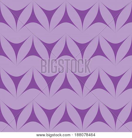 Lilac geometric triangulars background. Curvilinear triangles. A symmetrical pattern. A seamless texture. Seamless geometric lilac background.