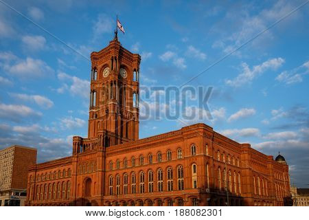 The City Hall / Red Town Hall (rotes Rathaus) In Berlin