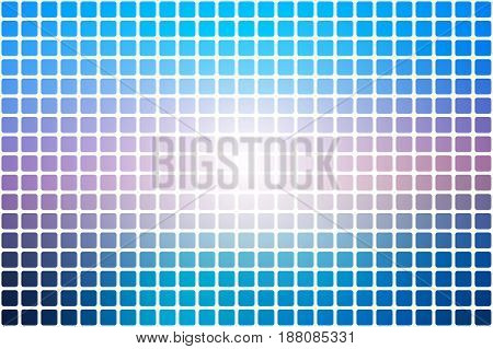 Blue shades pink vector abstract mosaic background with rounded corners square tiles over white
