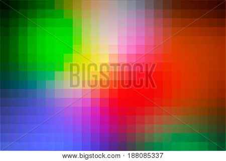 Green blue orange red abstract vector square tiles mosaic background