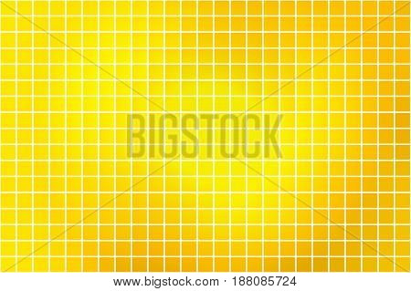 Bright golden yellow abstract vector square tiles over white mosaic background