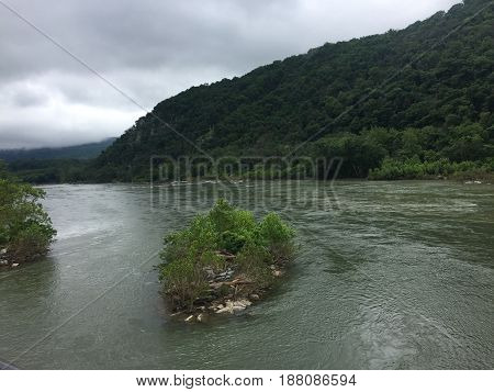 Hapers Ferry, on the border of Maryland and West Virginia