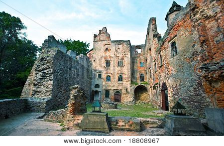 Old castle ruins in Bolkow Slaski, Poland