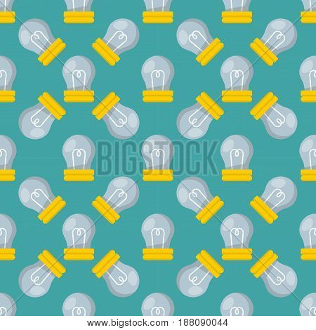 Cartoon lamp electric seamless pattern and bright cartoon interior flat vector brainstorming. Light bulb electricity design illustration creative invention imagination business creativity.