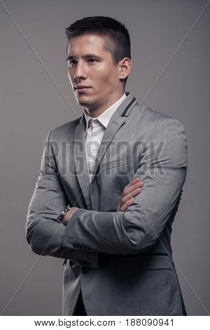 One Young Man, Upper Body, Formal Clothes, Sideways, Blank Expression