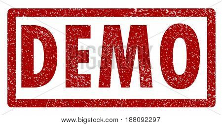 demo stamp on white background. demo rubber stamp. demo stamp sign.