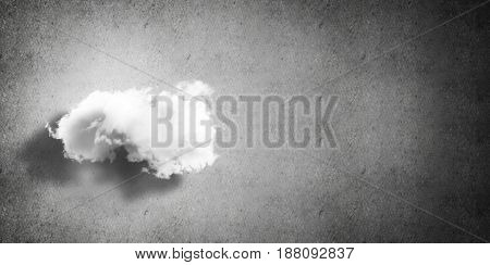 Background image with cloud computing connection concept on concrete wall