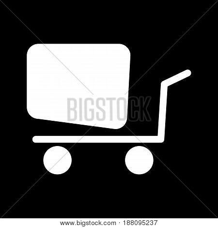 Vector linear ashopping cart icon, eps 10