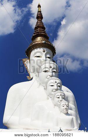 White Buddha at Wat Pha Sorn Kaew Thailand