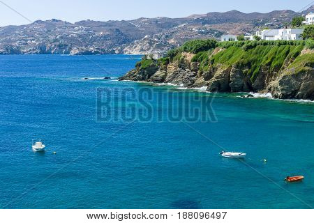 Gentle sea. Agia Pelagia. Crete Island. Greece.