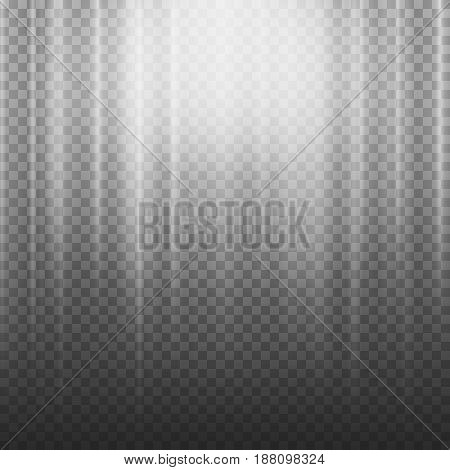 Light Beam Rays Vector. Light Effect Vector. Rays Burst Light.Isolated On Transparent Background. Vector