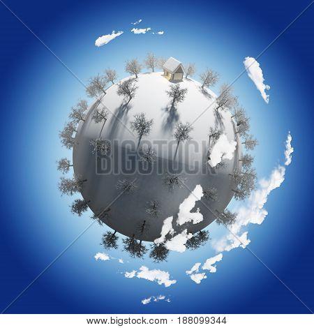 Planet Season Winter 3D ( Night Environment )