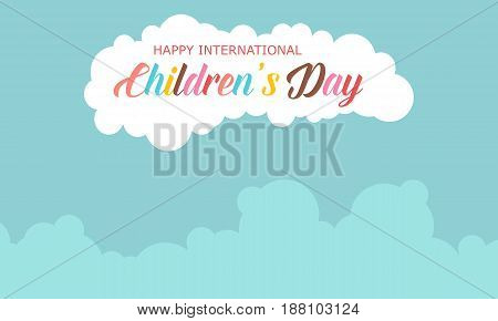 Collection stock children day celebration vector illustration