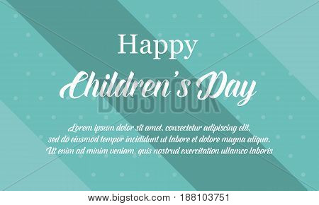 Children day background collection stock vector illustartion