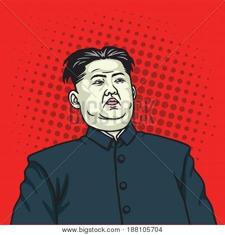 Kim Jong-un Pop Art Portrait Poster. May 27, 2017