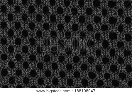 Gray fiber with black holes seen from close up. Top view