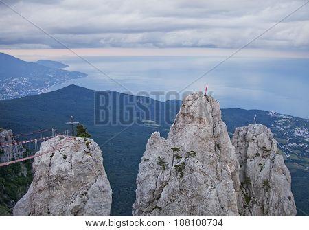 Ai-petri Rocks. Crimean Mountains.