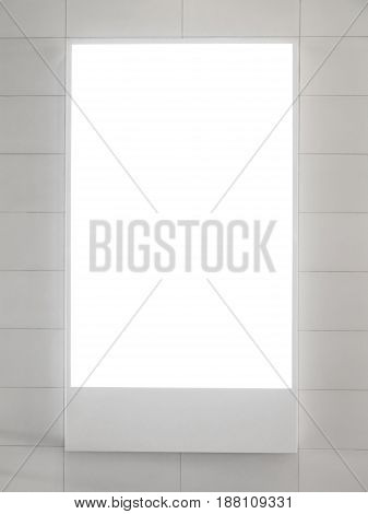 blank vertical billboard or blank light box