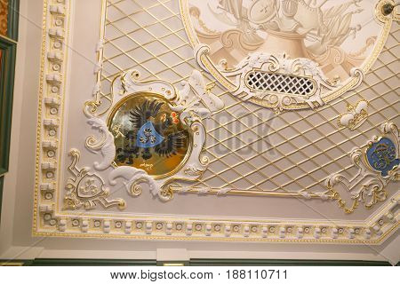 Nesvizh, Belarus - May 20, 2017: Details And Elements Of The Interior Of A Medieval Castle In Nesviz