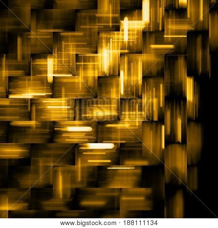 Abstract Golden And Black Geometric Background. Fantasy Fractal Texture. Digital Art. 3D Rendering.