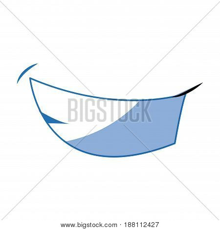 comic mouth funny cartoon human expression and emotion vector illustration