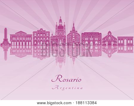 Rosario Skyline In Purple Radiant Orchid