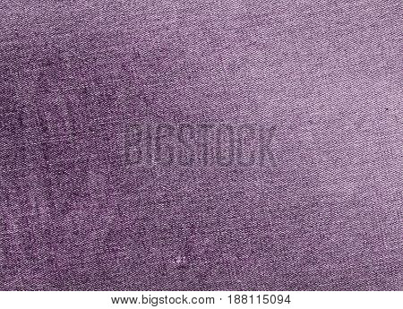 Purple Color Jeans Textile Texture.
