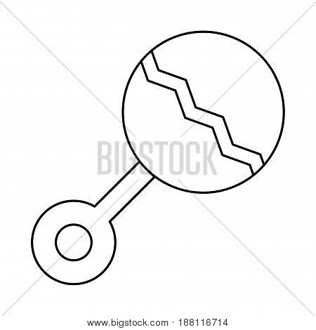 baby rattler icon over white background. vector illustration