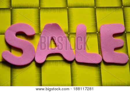 word sale on a  abstract colorful background